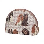 Cavalier King Charles Spaniel Big Cosmetic Bag-0