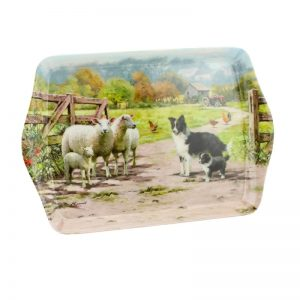 Border Collie & Sheep Small Tray-0