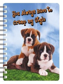 Boxer Puppies 3D Note Book-0
