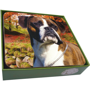 Boxer Coasters- set of 6-0