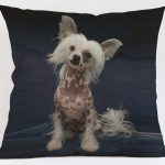 Chinese Crested Dog Cushion Cover-0