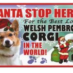 Welsh Corgi Santa Stop Here Sign-0