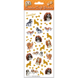 Cavalier King Charles Spaniel - Craft Stickers-0