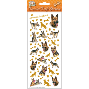 German Shepherd - Craft Stickers-0