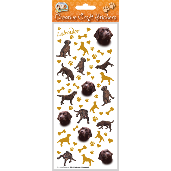 Labrador (choc) – Craft Stickers-0