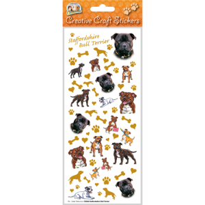 Staffordshire Bull Terrier - Craft Stickers-0