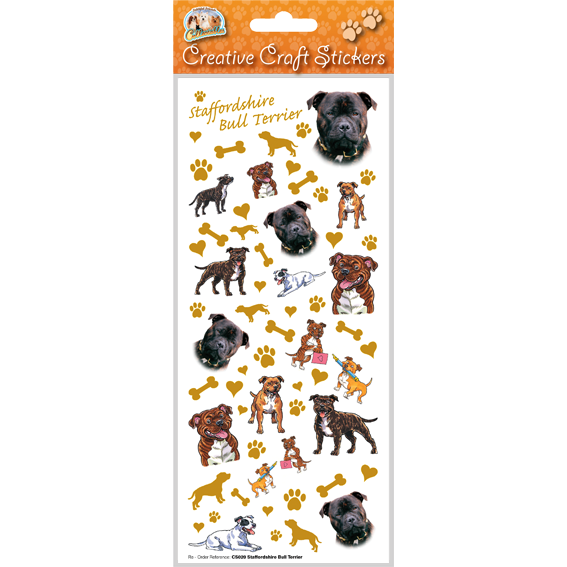 Staffordshire Bull Terrier – Craft Stickers-0
