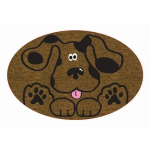 Cute Dog Coir Door Mat-0