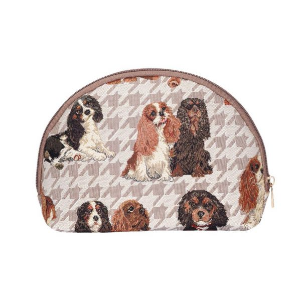Cavalier King Charles Spaniel Big Cosmetic Bag-7617
