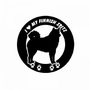Finnish Spitz Round Car Sticker -0