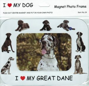 Great Dane Magnetic Photo Frame & Magnet-0