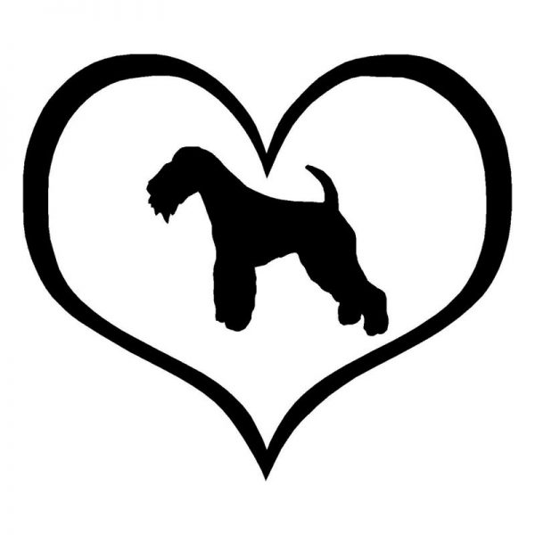 Lakeland Terrier (black) Car Sticker-0