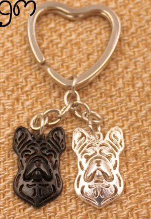 French Bulldog - Charm Keychain-0