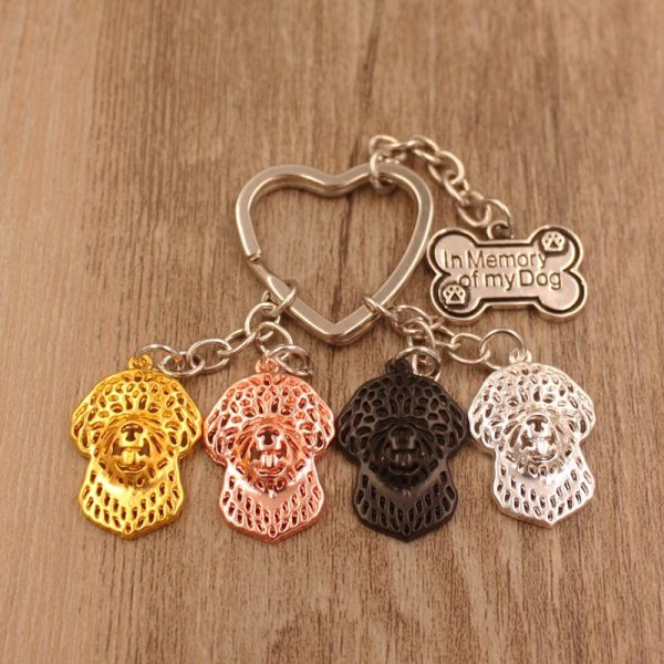 Lagotto Romagnolo – In Memory Charm Keychain-0