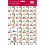 Labrador in the Snow – 5 x Christmas Gift Wrap & Tag-0
