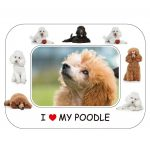 Poodle Magnetic Photo Frame & Magnet-0