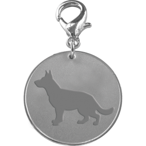 German Shepherd ID Pet Tag-0