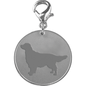 Golden Retriever ID Pet Tag-0