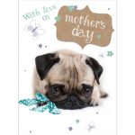 Pug Puppy- Mother's day Card-0