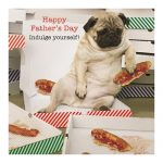 Pug Pizza- Father's day Card-0