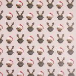 Pug – Single Christmas Gift Wrap & Tag-7511