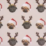 Pug – Single Christmas Gift Wrap & Tag-0