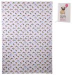 Pug - Single Birthday Gift Wrap & Tag-0