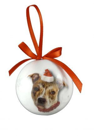 Staffordshire Bull Terrier Christmas Bauble-0