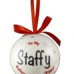 Staffordshire Bull Terrier Christmas Bauble-7220