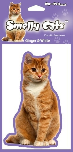 Cat Ginger & White - Air Freshener-0