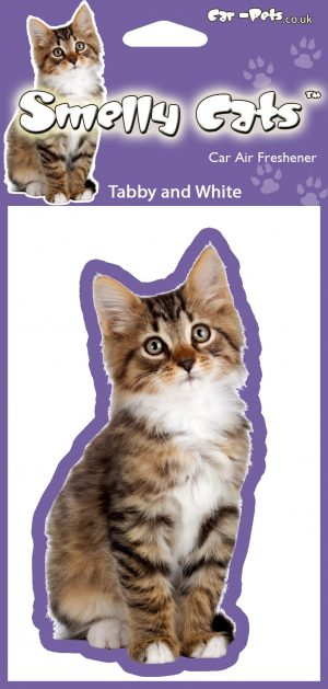 Cat Tabby & White - Air Freshener-0