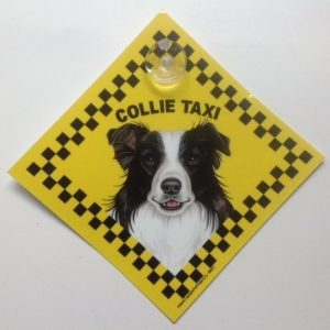 Border Collie (taxi) Suction Sign-0