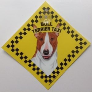 Bull Terrier (taxi) Suction Sign-0