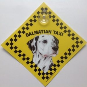 Dalmatian (taxi) Suction Sign-0