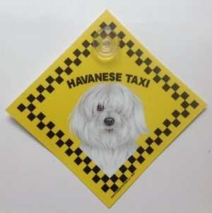 Havanese (taxi) Suction Sign-0