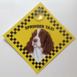 English Springer Spaniel (taxi) Suction Sign-0