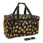 Black & Gold Paw Print Duffle Bag-0