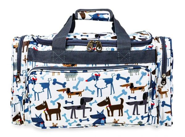 Cartoon Dogs Print Duffle Bag-7931