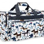 Cartoon Dogs Print Duffle Bag-7929