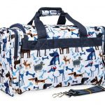 Cartoon Dogs Print Duffle Bag-0