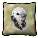 Dandle Dinmont Terrier Tapestry Filled Cushion-0