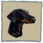 Doberman  Square Tapestry Throw-0