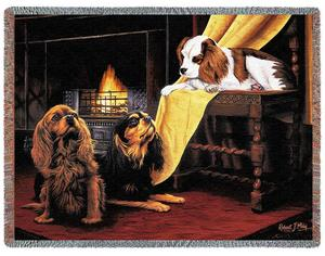 Cavalier King Charles Spaniel tapestry throw