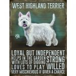 West Highland Terrier Mini Metal Sign