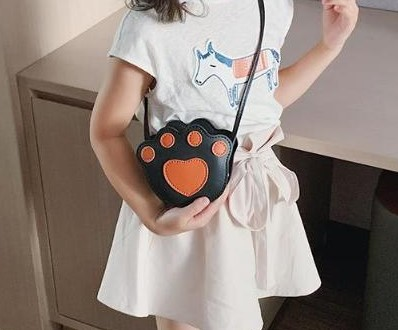 Girls Paw print Cross body bag