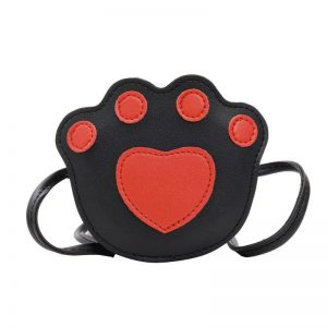 Paw Print cross Body Bag- red