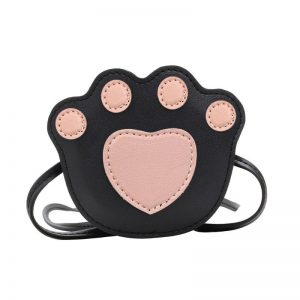 Paw Print cross Body Bag- pink