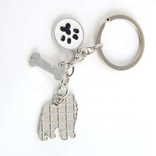 Samoyed Key Chain back