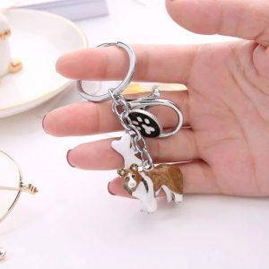 Sheland sheepdog key chain
