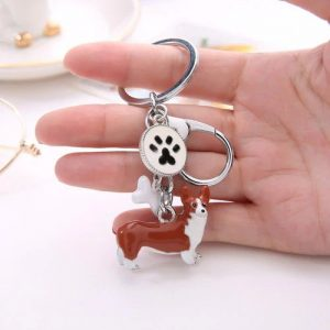 Welsh Corgi Charm Key Chain